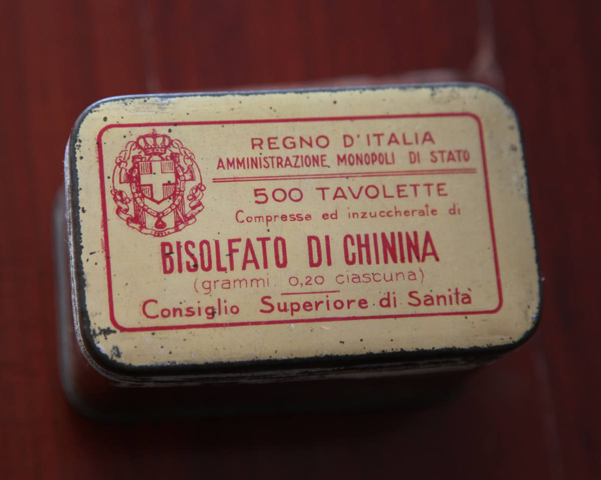 Quinine preparation used for malaria control and elimination in Italy. Photo: Quique Bassat.