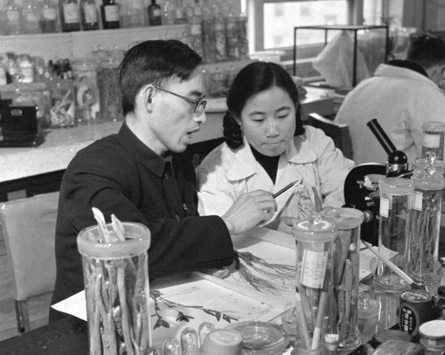 La científica Tu Youyou, als anys 50. Foto: Wikimedia Commons.