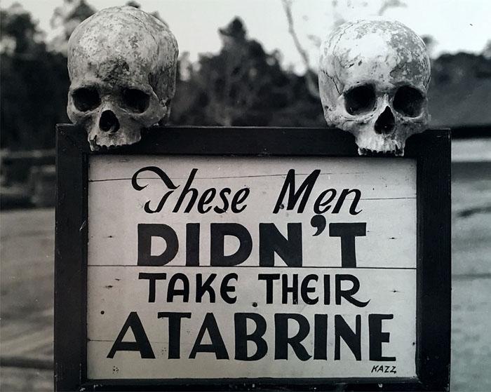 Advertencia para que los soldados siguiesen el tratamiento con Atebrine.