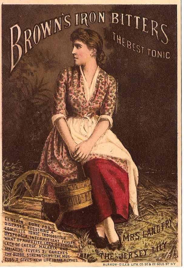 Advertising brochure for Brown's Iron Bitters tonic.