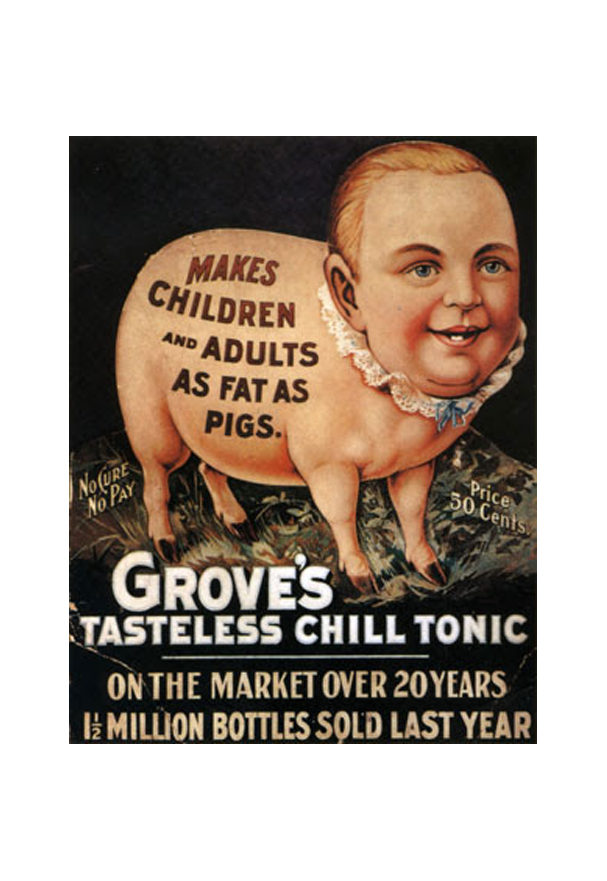 Advertising illustration for Grove's tonic.